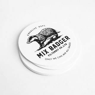 Filter017 x 九口山 Mix Badger Paper Coaster  米斯獾 厚紙杯墊