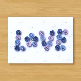 Handmade Roll Paper Card _ Pattern Love_C ... Mother Card, Valentine Card, Wedding Card