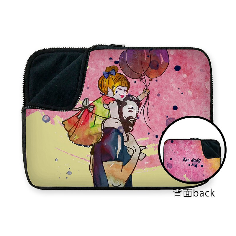Customized Me and dad COSMOS laptop sleeve