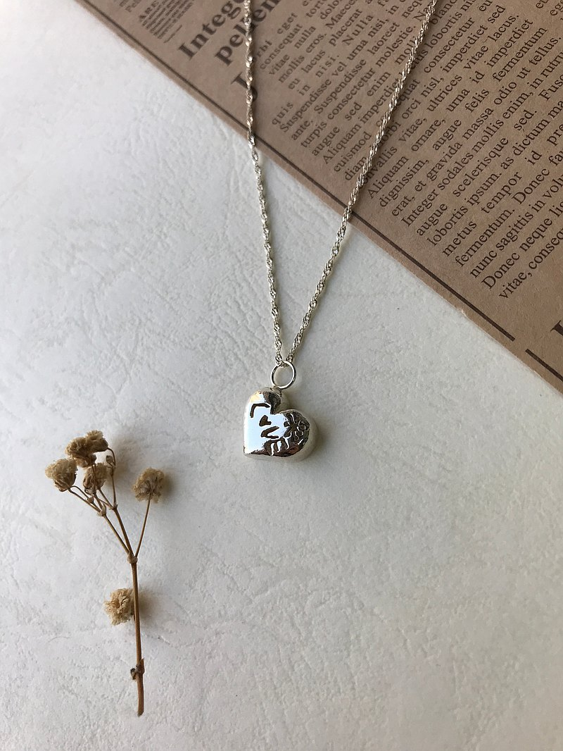 Warm Heart/Gift/LOVE/Silver Necklace
