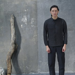 Striped Line Shirt -Black