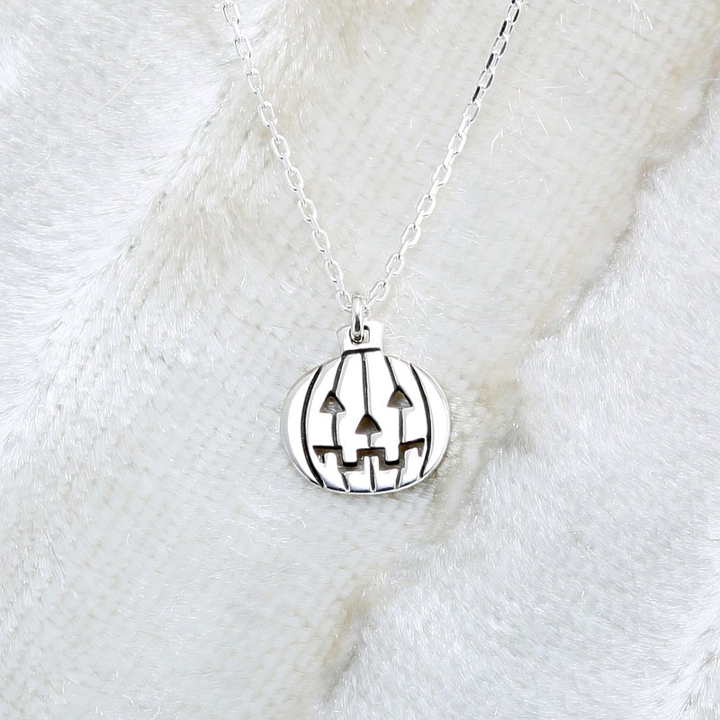 Halloween Pumpkin Lantern s925 sterling silver necklace gift