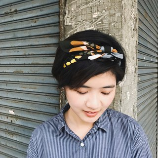 Chestnut mountain strap tight narrow version / handmade hair band