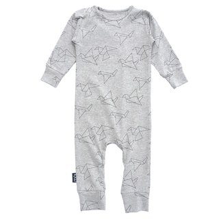 "European Organic Cotton Baby / Child Long Sleeve Assorted ""Gray Origami Limited Edition"""