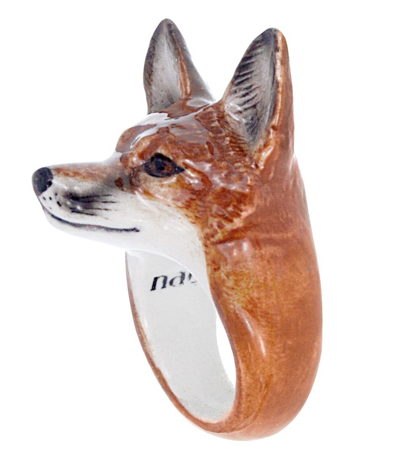 Fox Porcelain Ring (Size M)