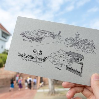 Anping Castle hand-painted postcard (water model)