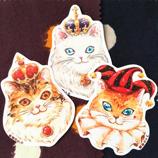Sticker * Poker Cats * XL size