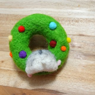 Hamster Ass - Christmas Wreath Wool Felt