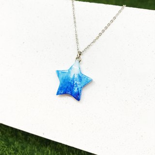 [Blue and White] - Five Star Necklace