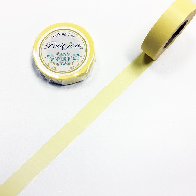 NICHIBAN Petit Joie Masking Tape【Plain - Yellow (PJMT-15S060)】