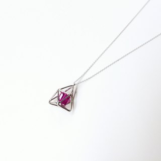 Geometric necklace silver