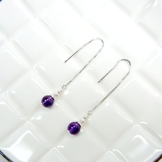 Elegant fashion amethyst 925 silver earrings earrings