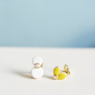 Christmas limited earrings / ear clip + free Christmas package - Snowman + Christmas red