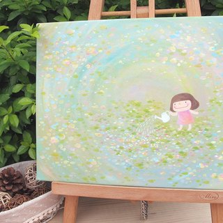 Small mushrooms frameless painting - Spring Garden