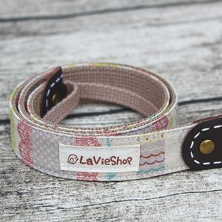 Elegant lace X Colorful Masking tape (Warm Pink) 25mm Handmade Camera strap GF