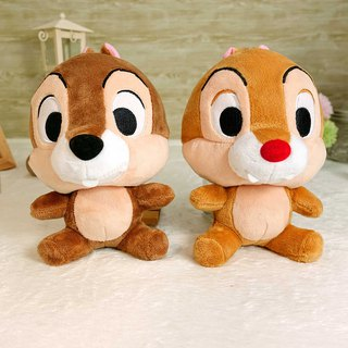 Disney Disney Bighead Series Qiqi Ditie Basic Sitting 15cm Down doll Doll Toy Doll Charm