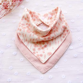 DOMOMO Japanese-made swallow flower (baby powder) 6-layer yarn double-sided bibs saliva towel scarf