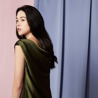 Back Drape Dress (Olive)