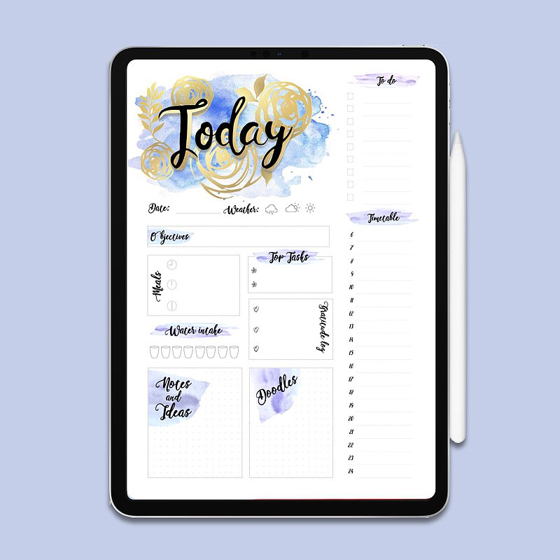 Blue To Do List | To Do List Printable | Planner | Printable Planner