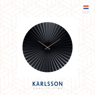 荷蘭Karlsson Wall clock Sensu steel black 黑色放射設計掛鐘