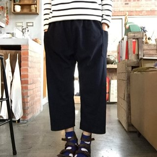 Handmade cotton low crotch pocket nine points bubble classic pants