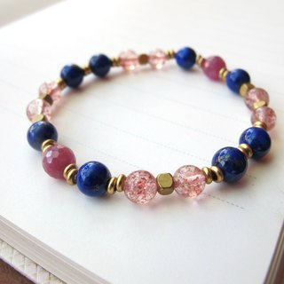 [Read] ruby ​​x lapis lazuli × Crystal Brass - hand-made natural stone series