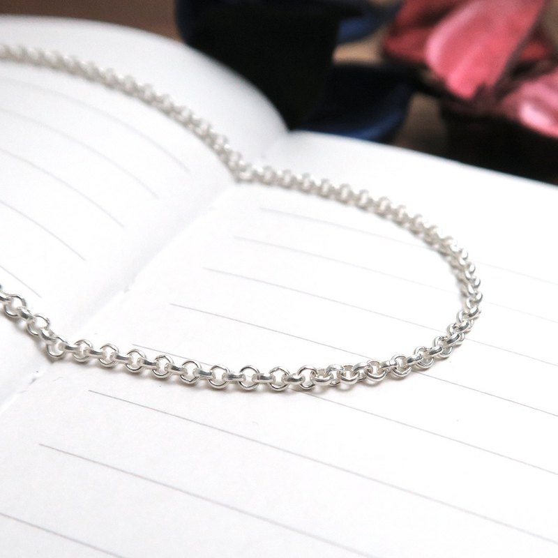 Matching chain - 925 silver chain minimalist round chain 2.0mm medium section 16~32 inch custom length