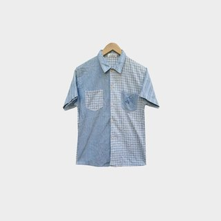 Dislocation vintage / stitching check shirt no.071 vintage
