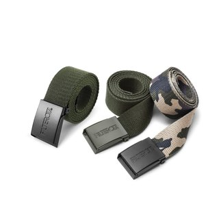 Filter017 Foundation Webb Belt / Canvas Metal Buckle Belt (Army Green Black Buckle)