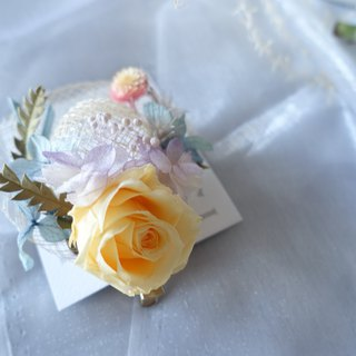 [Summer Knit Cap Corsage] Corsage Pin / Exchange Gift / Handmade / Birthday Gift / Graduation