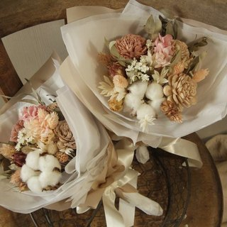 Cotton flowers are not withered Valentine's Day bouquet
