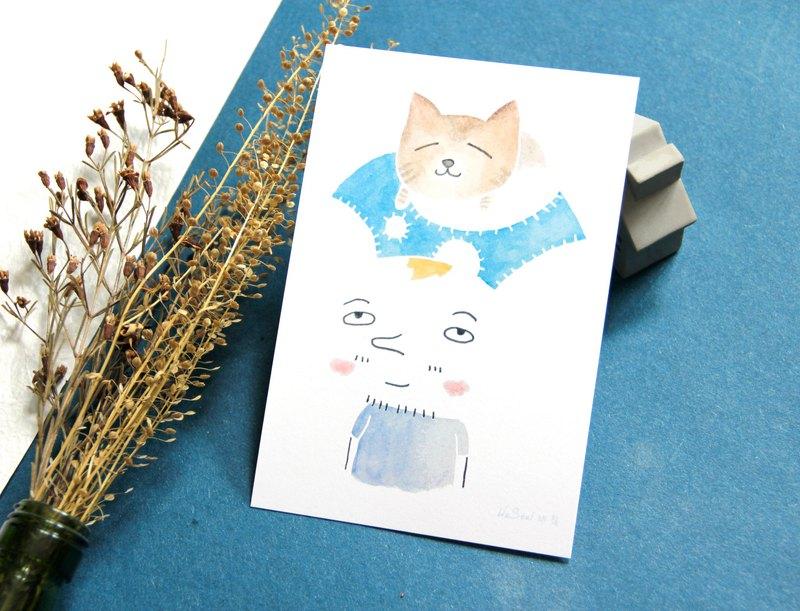 治癒 明信片 Postcard - 我與貓