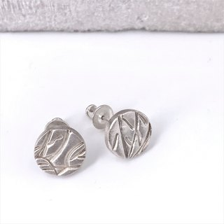 E11013 La Belle Saison in Circle Silver 999 & 925 Earrings