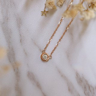 Classic round tube diamond necklace