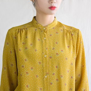 Mustard autumn cool vintage long-sleeved shirt