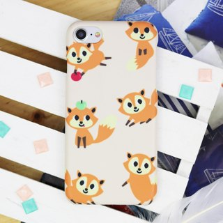 Cute Fox Matt finishes rigid hard Phone Case for iPhone X 8 8 plus ip8 ip8+ 7 7p
