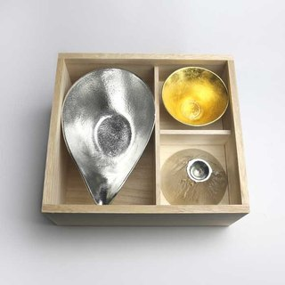 Mount Fuji gift (pure tin piece mouth Cup - Lx1 · gold Fuji style cup x2)