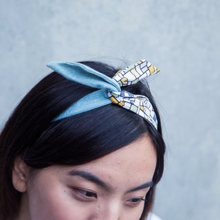 Soft wire hair band headband plaid interest ::: :::