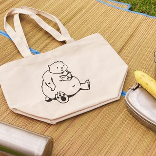 Read books, polar bears, hand-stamped lunch bags (micro NG goods _ original price 280 yuan)