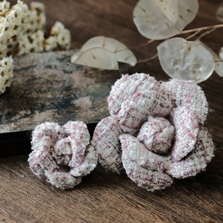 栀 powder - retro camellia brooch dyed cloth flower brooch