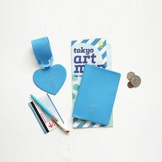 2NUL heart time passport cover - blue, TNL85199
