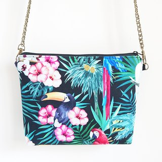 Black-tailed Toucan Holiday Multi-purpose Chain Bag
