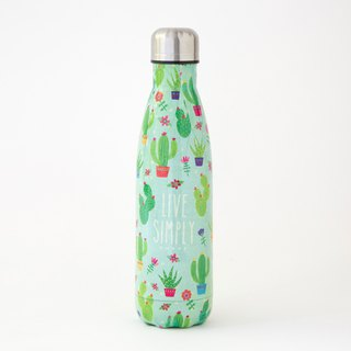 Stainless steel insulation / cold water bottle - meat cactus | WB029