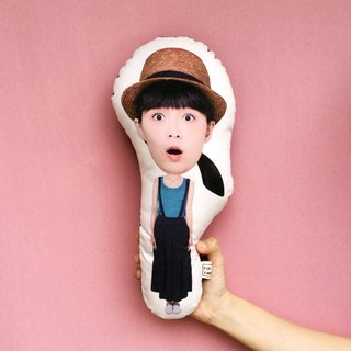 【Fun Print】【customize】 Big head-Small Body Pillow