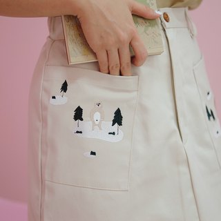 Mini Skirt : Cream
