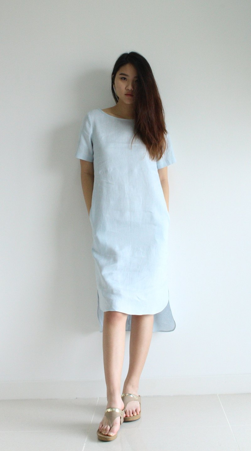 Made to order linen dress / linen clothing / long dress / casual dress E19D