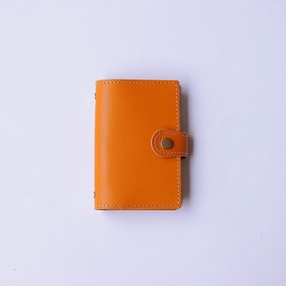 2019 leather hole clip million hand account | A7 | warm orange