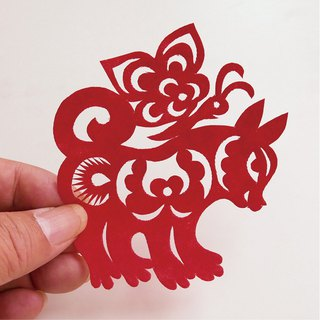 Puppy play the butterfly paper cut go16