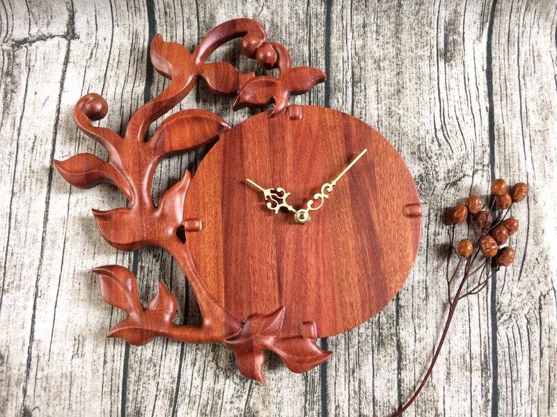 原木木作時鐘 - 永恆