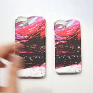 Deep sea light red full color printing soft shell iphone full range of various models custom